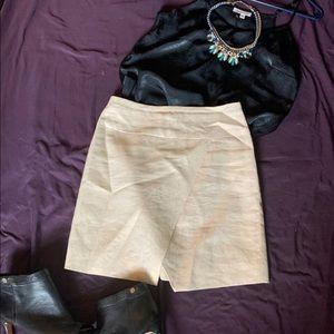 J Crew gold Linen Skirt